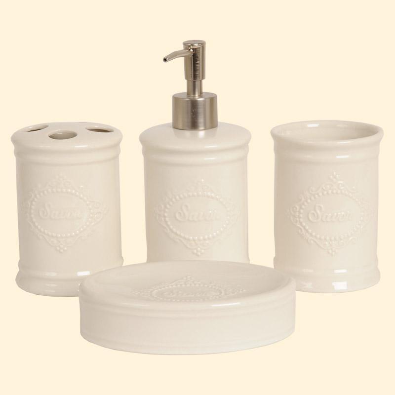 Keramik-Badezimmerset Savon von Clayre & Eef