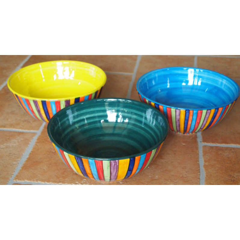 Schale Keramik bunt Handarbeit Mallorca