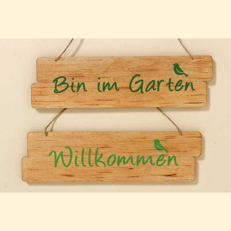 Schild Willkommen Oder Bin Im Garten Mediterrane Gartendeko
