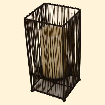 kerzenst nder holz und metall f r 4 kerzen mediterrane. Black Bedroom Furniture Sets. Home Design Ideas